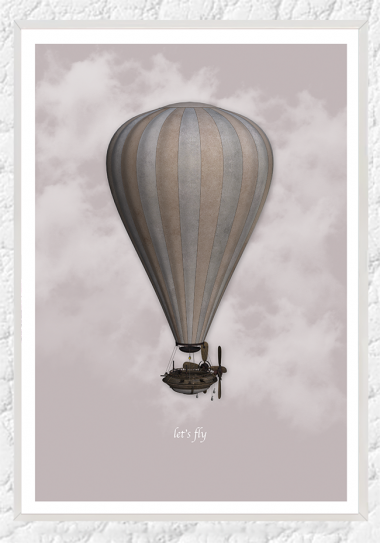 Airballoon pink sky