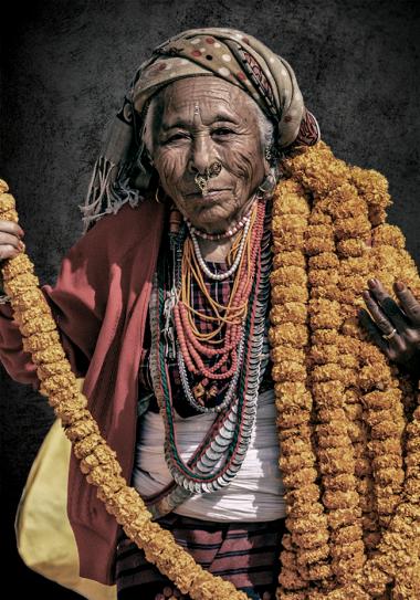 Nepali woman portrait