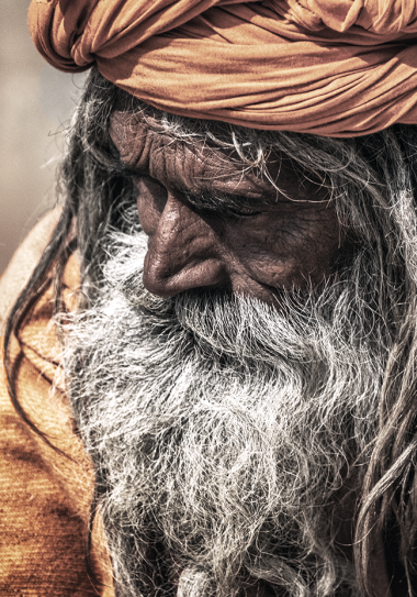 portrait of a man from nepal